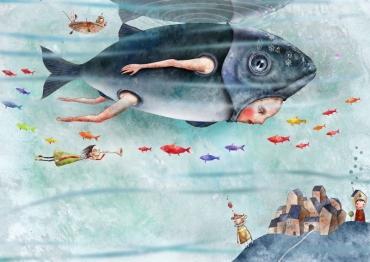 Ilustración hecha por el artista japonés, Cosei Kawa