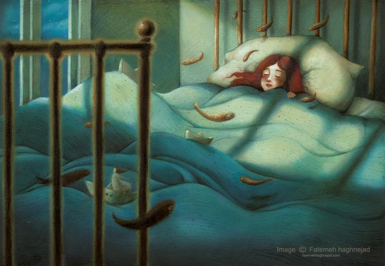 Illustration made by Fatemeh Haghnejad, Iranian artist