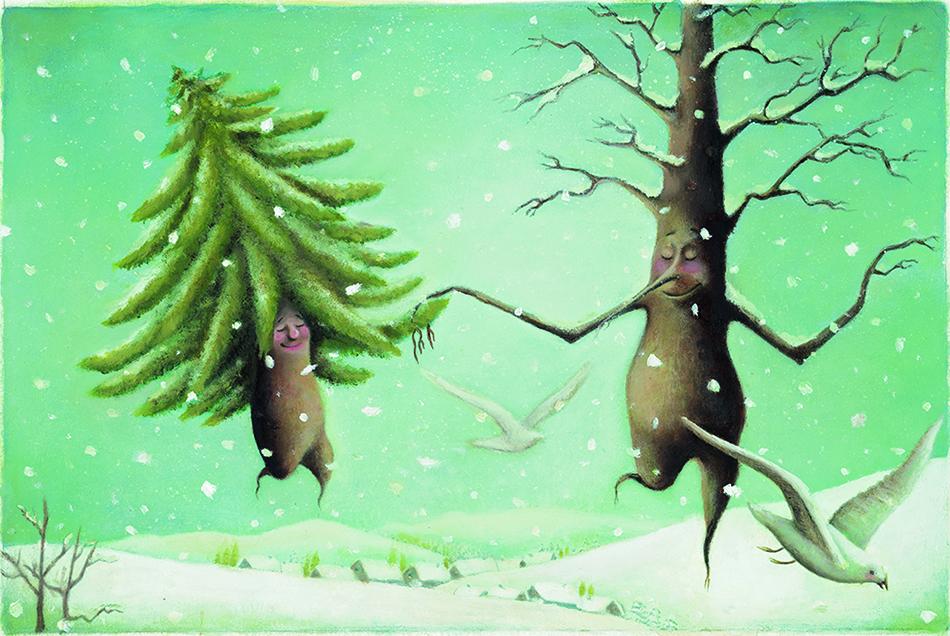 Illustration made by Leyla Safa, iranian artist